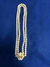 Pearl Necklace - Unbranded - Japan Vintage Costume Jewelry - Double Strand