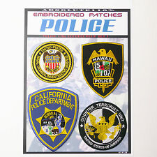 AMERICAN COPS - US Police Patches Iron-On Patch Mega Set #38 - FREE POST