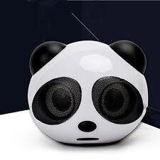 Cute Mini Panda Cartoon Animal Speaker Music For PC Phone Computer Laptop Speake