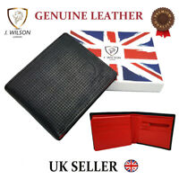 Designer Mens Real Leather Wallet J Wilson Genuine Quality Note Coin Purse Box