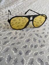 Unidad De Noche Lente Amarillo Vintage Gafas/Gafas de sol
