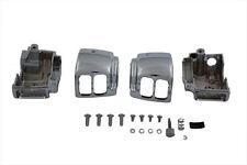Handlebar Switch Housing Kit Chrome for Harley Dyna Softail Sportster Road King