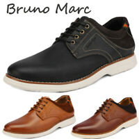Bruno Marc Men Genuine Leather Oxford Lace Up Sneakers Casual Wingtip Dress Shoe