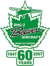 DE HAVILLAND BEAVER 60 AIRCRAFT DECAL/STICKER 10''HIGH X 7.513''WIDE!