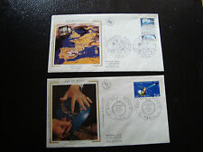 FRANCE - 2 enveloppes 1er jour 1983 (art du bijou-meteorologie) (cy18) french