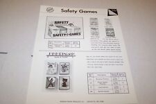 Vintage WARREN PAPER PRODUCTS - SAFETY GAMES ad sheet #0222