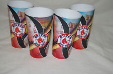 4 PC BOSTON RED SOX CUPS 18 OUNCE 3D Digital Replay BASEBALL MLB Made in USA