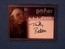 Harry Potter-Timothy Bateman-Kreacher-OOTP-Authentic-Signature-Autograph Card