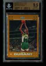 2007-08 Topps Chrome Kevin Durant /199 Orange Refractor Rookie #131 BGS 9.5 RC