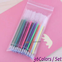 Child's Fluorescent Office Shinning Flash Painting 36 Colors Gel Refill Pen