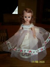 Vintage Nancy Ann Storybook Doll-Red/Brown Hair In Pink Lace With Rose Dress-