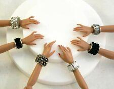 "Chunky Jeweled Cuff Bracelets for 12"" Poppy Parker & Fashion Royalty Dolls"