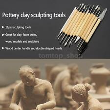 11x Mini Wood Carving Chisel Knife Tool Set Needle Files for Sculpture DIY Craft