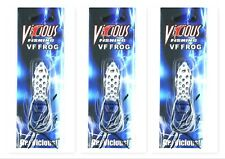"(3) Vicious Fishing Topwater 1 1/2"" Vf Frog 3/16 Oz Pearl Midnight Vf40-Pm New"