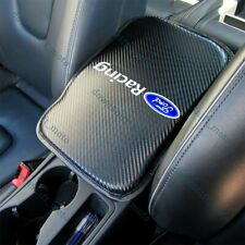 For Ford Racing Carbon Fiber Car Center Armrest Cushion Mat Pad Cover +Free Gift