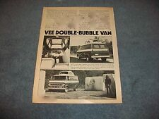 "1971 Ford Econoline Custom Van Vintage Article ""Vee Double-Bubble Van"" VW Top"
