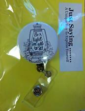 """Matthew 5:16  """" Be a light for all to see ..""""  Retractable Reel  ID Badge Holder"""