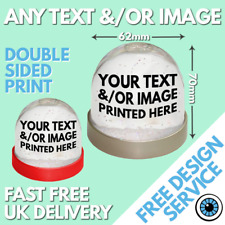 More details for custom snow globe • personalised snowglobe christmas gift image text photo logo