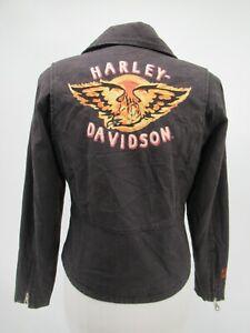 M9588 VTG Harley Davidson Women's Motorcycle Biker Jacket Size XS