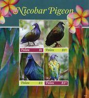 Palau 2018 MNH Nicobar Pigeon 4v M/S Pigeons Birds Stamps