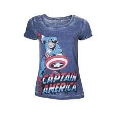 MARVEL Captain America Adult Female Super-Powered Soldier T-Shirt Large Blue