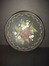 Vintage Tole Tray Signed Costallat Strawberries