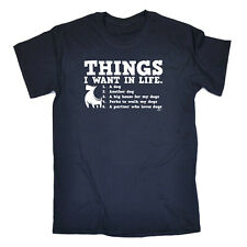 Funny Kids Childrens T-Shirt tee TShirt - Things I Want In Life Dog