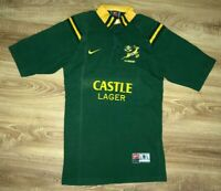 South Africa Springboks vintage Tight Fit Castle Lager Nike rugby shirt size S