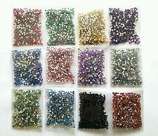 6.000 Strasssteinchen rund 2 mm 12 Farben Nail Art Nageldesign Set Mix Paket