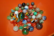 Vintage and Antique Glass and Clay Marbles Lot