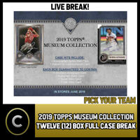 2019 TOPPS MUSEUM COLLECTION 12 BOX (FULL CASE) BREAK #A239 - PICK YOUR TEAM