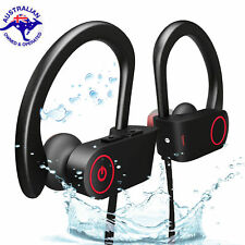 Wireless Bluetooth Water Resistant Sports Stereo Headphones Earphones Headset AU