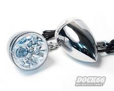 Rücklicht Blinker LED Kombination chrom, für Harley Custom Chopper Sportster