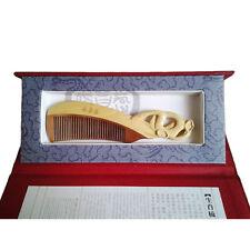Peigne en bois sculpté, signe zodiaque chinois ¨serpent¨, en coffret