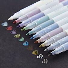 New 10Pcs Assorted Metallic Paint Marker Pen Markers Set of 10 Colors DIY Brush