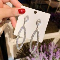 Fashion Long Crystal Earrings Stud Drop Dangle Charm Women Party Jewellery Gift