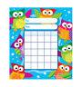 Kids Owl Stars Reward Incentive chart pad + 200 Free Chart sized Stickers