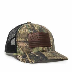 Outdoor Cap USA Flag Patch Camo-Mossy Oak® Break-Up Country®/Black-One USA771Cam