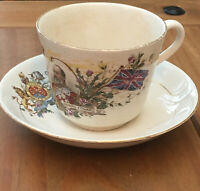 Commemorative Cup & Saucer King Edward VII And Queen Alexandra 1902 Coronation