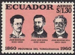 1961 Ecuador SC# C380 - Centenary of Tungurahua Province - M-HR