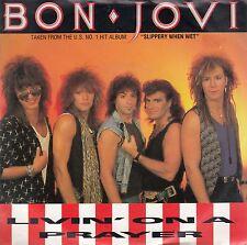"BON JOVI-LIVIN' ON A PRAYER/WILD IN THE STREETS-ORIGINAL DUTCH 7"" 45rpm 1986-AOR"