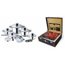 Premium Stainless Steel Cookware Set 16pc (Switzerland) NEW IN THE BOX