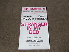 Muriel PAVLOV & John FRASER in STRANGER in my Bed St MARTIN's Theatre Poster