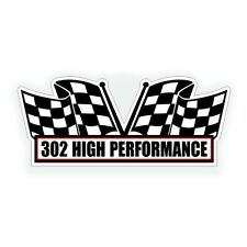 302 HIGH PERFORMANCE engine AIR CLEANER DECAL for classic Ford Muscle Hot Rod