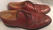 8.5M Alfani Brown Leather Classic Men's Oxford Dress Shoe Size 8 1/2 Medium Widt