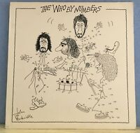 THE WHO The Who By Numbers LP 1975  Vinyl LP numbered  EXCELLENT CONDITION  d