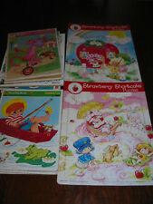 Vintage Lot of 10  1970's-1980's Puzzles Strawberry Shortcake Pink Panther