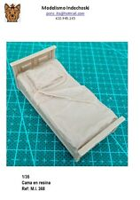 WWII 1/35 cama RESINA accesorios diorama muebles bedroom bed furniture