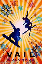 Vail Colorado Ski Winter United States America Travel Advertisement Poster