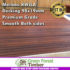 Merbau KWILA Decking 90x19mm Premium Grade Smooth Both sides. SYDNEY BEST PRICE